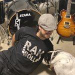 rak 'n' roll t-shirt with the dog